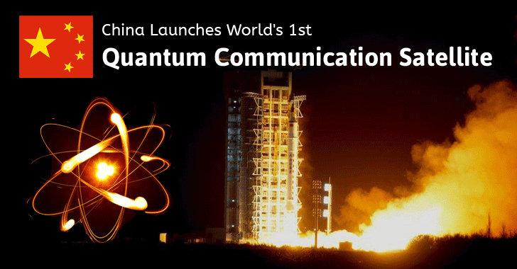 China Launches World's 1st Quantum Communication Satellite