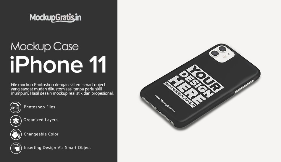 Mockup Gratis Hardcase 3D iPhone 11