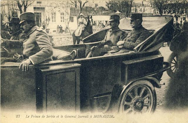 Prince Aleksandar Karadjordjevic and General Sarrail, entering in Bitola in November 1916.