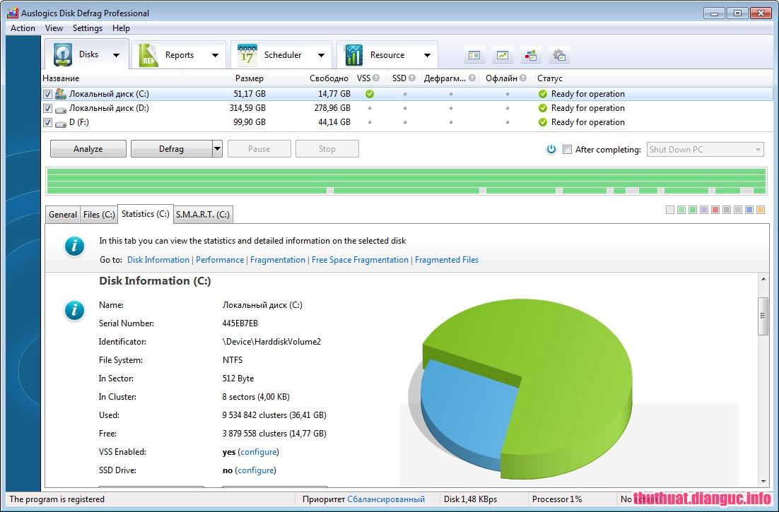 Download Auslogics Disk Defrag Professional 4.9.20 Full Cr@ck