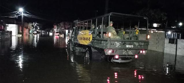 El Ejército mexicano aplica el Plan DN-III-E en Progreso