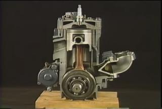 Gambar komponen dalam enjin 2 lejang, piston, crankshaft,bearing