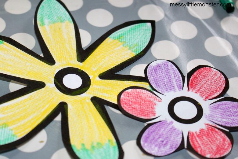 magic paper flower template
