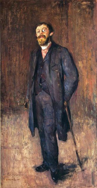 Эдвард Мунк - Портрет художника Йенсена Хьелла. 1885