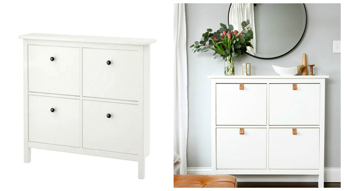 IKEA HEMNES shoe compartment hack