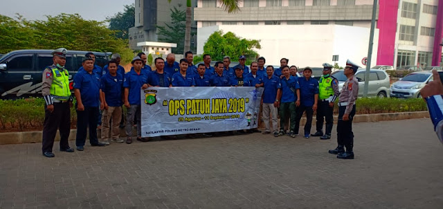 jemputan karyawan Perusahaan Briefing koordinasi Polantas