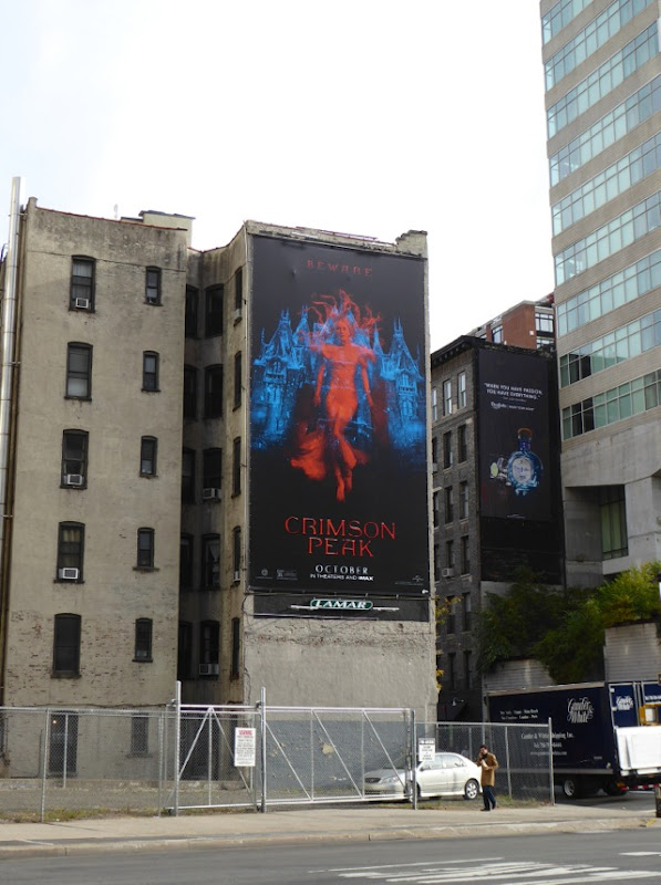 Crimson Peak film billboard NYC