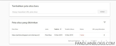 Cara Submit Sitemap ke Google Search Console