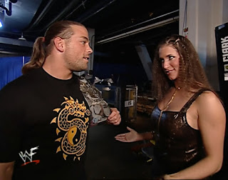 WWE / WWF Unforgiven 2001 - Stephanie McMahon flirts with Rob Van Dam