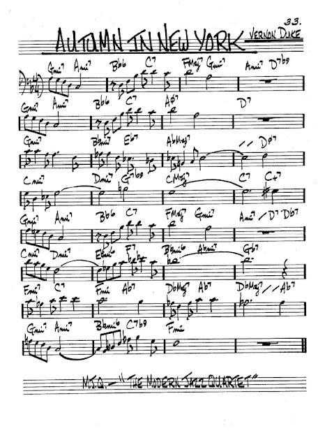 Partitura Trombón Vernon Duke
