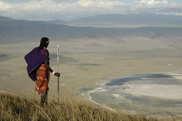 Picture of a Masai warrior.