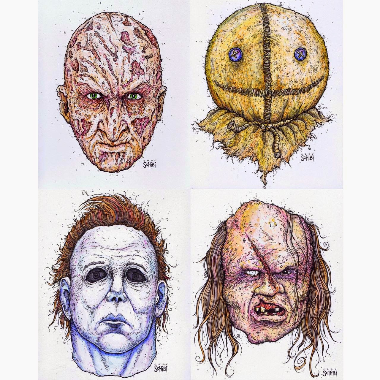 Draw Home Design Online Drawing A Blank The Art Of Cody Schibi Icons Of Horror