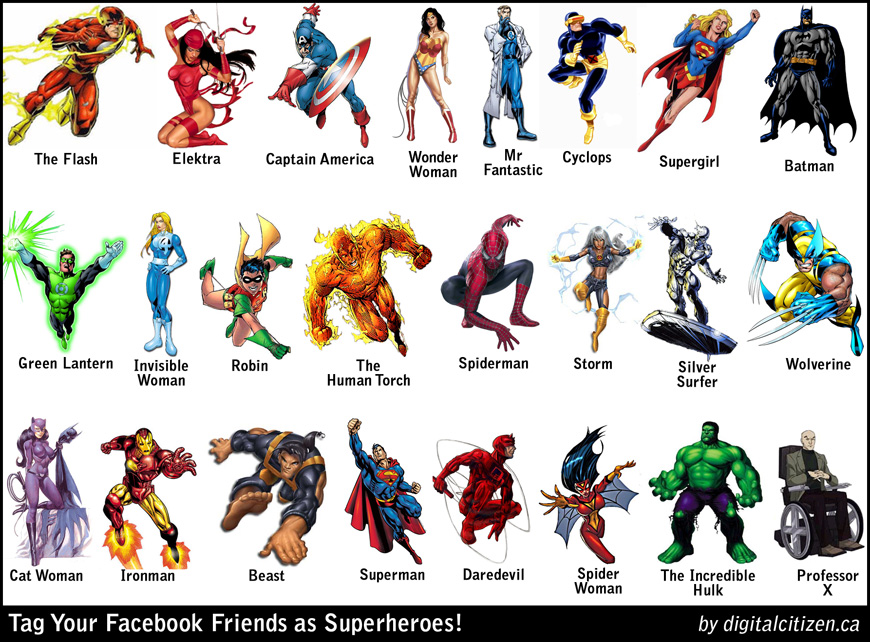 SUPERHEROS--Friends + Foes