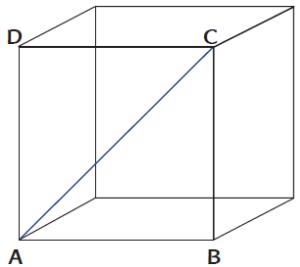 diagonal bidang dan diagobal ruang kubus