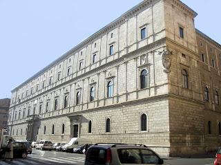 The Palazzo della Cancelleria in Rome