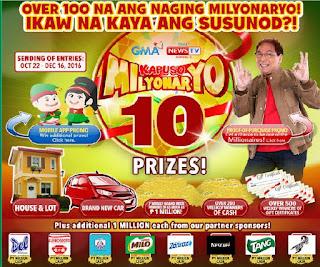GMA Kapuso Milyonaryo 10, kapuso milyonaryo, Philippine contest promo
