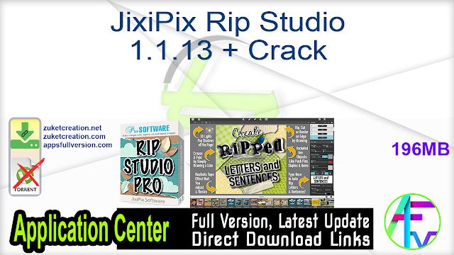 JixiPix Rip Studio 1.1.13 + Crack