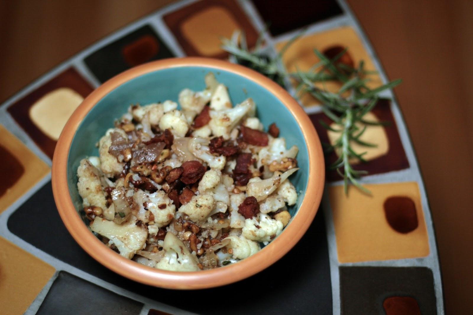 Local Food Rocks: Cauliflower with Walnuts and Rosemary