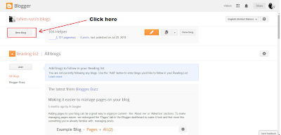 How to create a blog or site on blogger | 101Helper