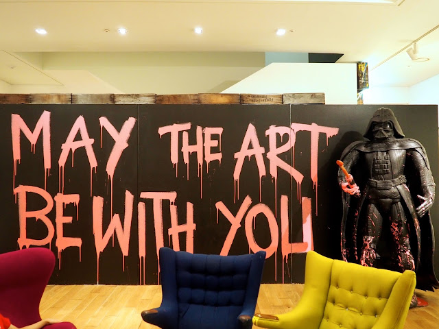 Star Wars artwork from the Mr Brainwash exhibit at the ARA Modern Art Museum, Seoul, South Korea