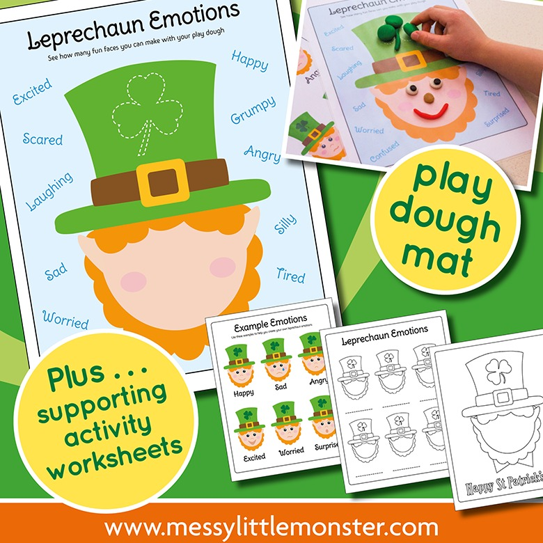 St Patricks Day Emotions Activity Pack