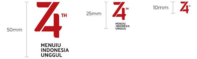 Download Logo Resmi HUT RI Ke 74 Tahun 2019 Format CDR dan PNG