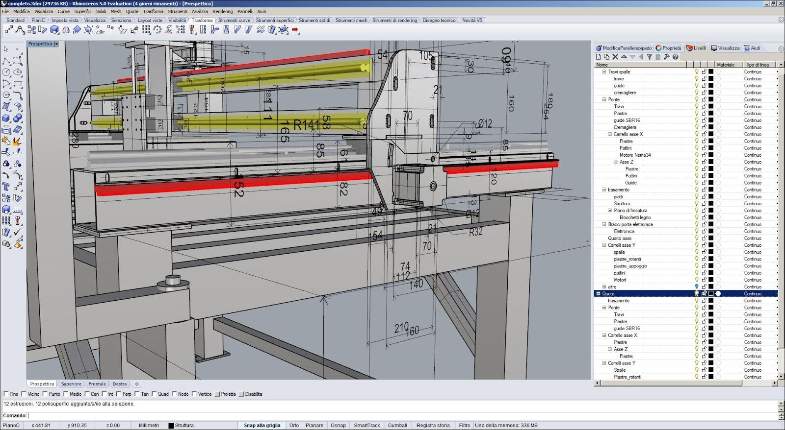 Diy progetti progetto cnc raptor 5 for Costruire tornio legno