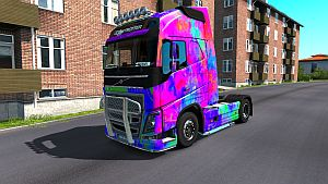 Abstract skin for Volvo 2012 SCS