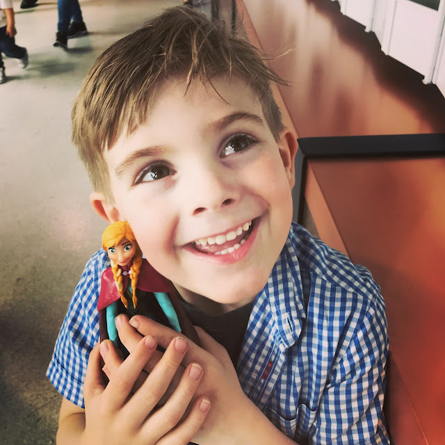 Bert at Disney on Ice with his beloved Anna figure