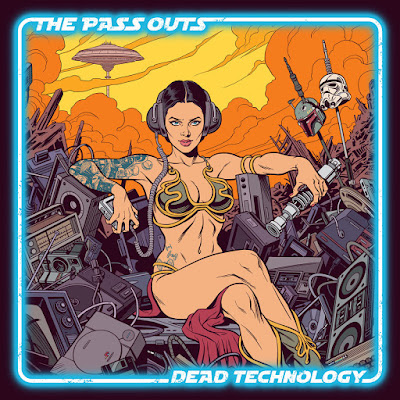 SciFi Album cover sexy metal bikini