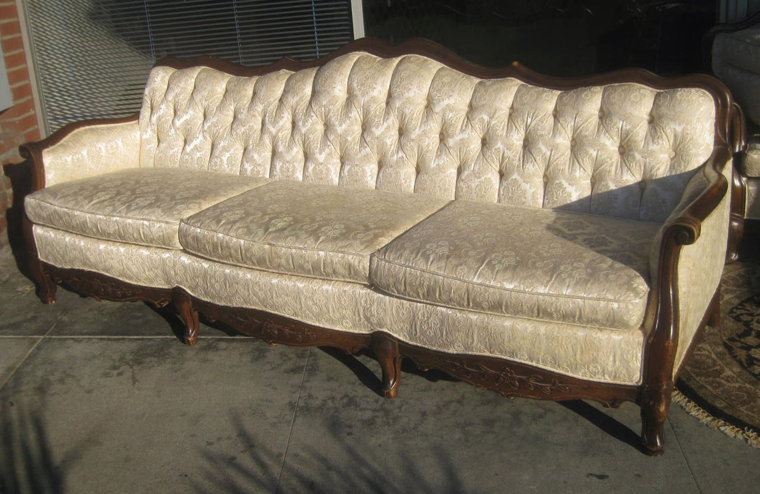 French Sofas And Chairs Poundex Bobkona Atlantic Sectional Sofa Reviews Uhuru Furniture Collectibles Sold Provincial