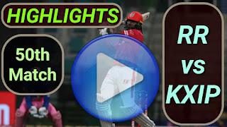 RR vs KXIP 50th Match