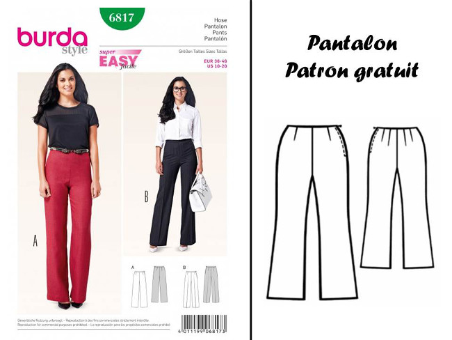 patron pantalon femme pdf. Black Bedroom Furniture Sets. Home Design Ideas