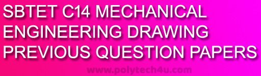diploma engineering drawing old question papers c-14 mechanical sbtetap pdf