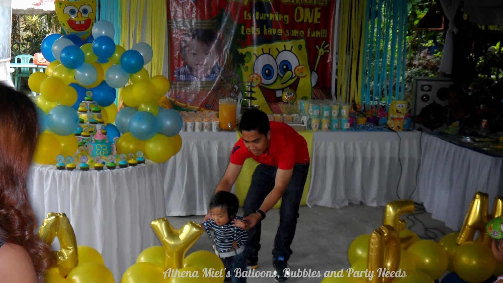 Jayden S Spongebob Squarepants Birthday Party Athena Miel