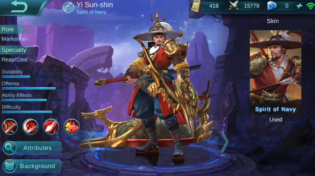 Build Dan Gear Hero Yi Sun-Shin Savage Full Damage dan Mematikan Ala Top Global