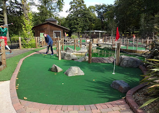 Golden Putter Adventure Golf at Cannon Hill Park in Birmingham