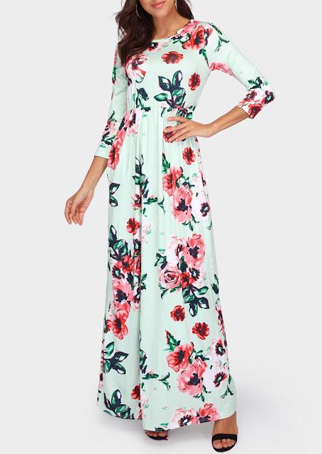 Floral Floor-Length Maxi Dress