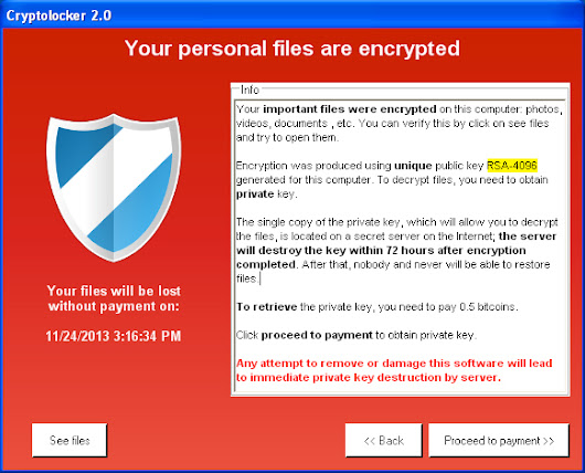 A Big Problem: Cryptolocker the Ransomware