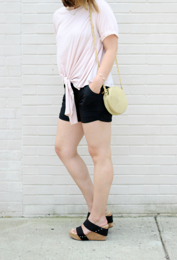 simple addiction, how to style black shorts, style on a budget, mom style
