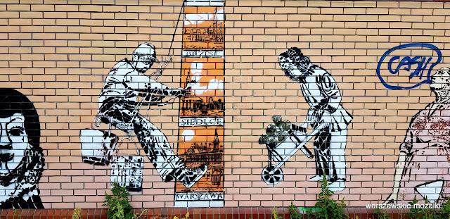 Warszawa Warsaw warszawskie murale Grochowska Siennicka Iwona Zając Fundacja Sztuki Arteria Obelisk mural murale streetart