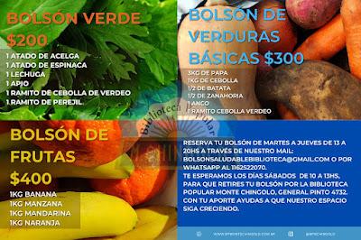 Bolsones de frutas y verduras a precios populares en la Biblioteca Popular Monte Chingolo