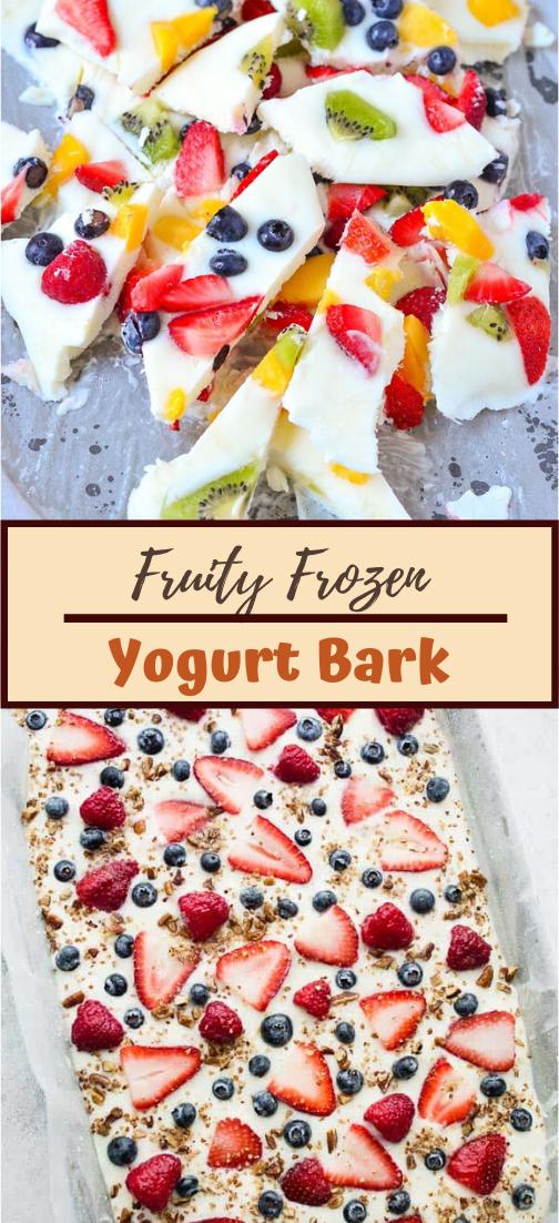 Fruity Frozen Yogurt Bark #healthyrecipe #dinnerhealthy #ketorecipe #diet #salad