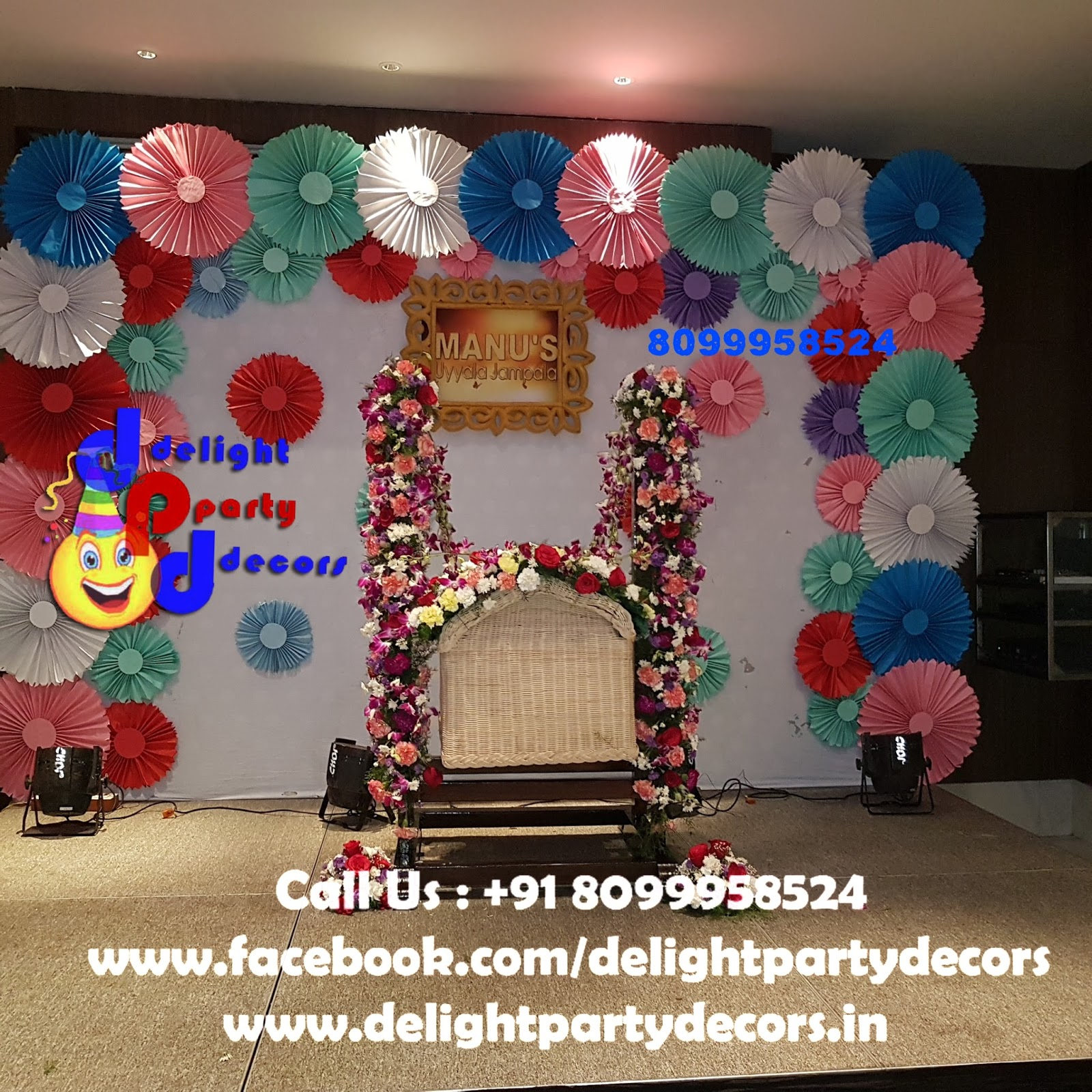 Delight party decors for Balloon decoration for naming ceremony