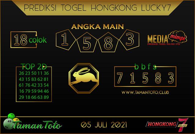 Prediksi Togel HONGKONG LUCKY 7 TAMAN TOTO 05 JULI 2021