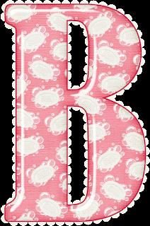 Abecedario Rosa con Burbujas. Pink Alphabet with Bubbles.