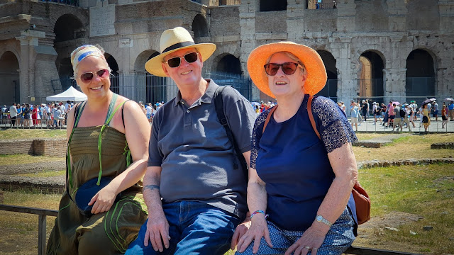 Betty, Graham, and I in Rome, Italy