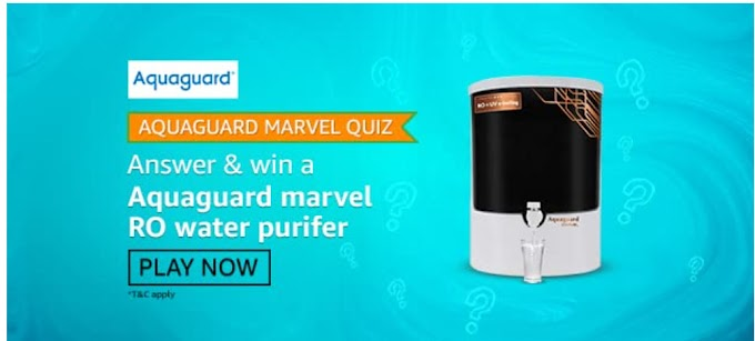 Amazon Aquaguard Marvel Quiz Answers Win RO Water Purifie