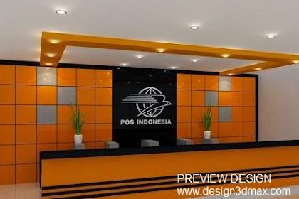 Jasa design counter backdrop kantor pos murah berpengalaman
