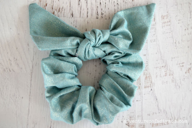 scrunchie with a bow